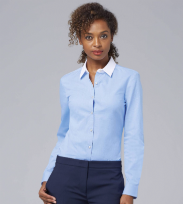01431 SOL'S Ladies Belmont Long Sleeve Contrast Poplin Shirt
